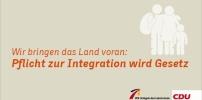 Pflicht zur Integration wird Gesetz