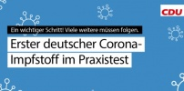 Erster deutscher Corona-Impfstoff im Praxistest