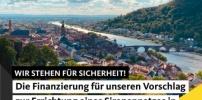 Die Finanzierung für unseren Vorschlag zur Errichtung eines Sirenennetzes in Heidelberg wurde beschlossen!