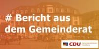 Bericht aus dem Gemeinderat vom 17.10.2019: Verlagerung Betriebshof, Sperrzeitenverordnung