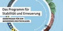 Regierungsprogramm. Gemeinsam für ein modernes Deutschland.