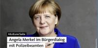 #AnEurerSeite: Angela Merkel im Bürgerdialog mit Polizeibeamten